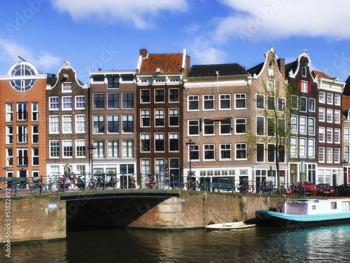 Deurstickers Amsterdam Case sul canale