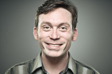 Caucasian Man Smiling Portrait