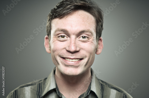 Caucasian Man Smiling Portrait