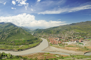 Mtkvari and Aragvi, river, georgia