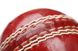 Close up of Red Cricket Ball