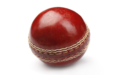 Cricket Ball Isolated On White Background