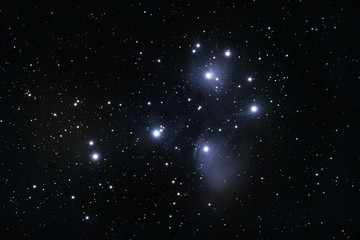 M45 Pleiades open cluster