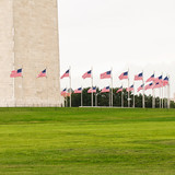 Ring Of Flags Surrounding The Washington Monument