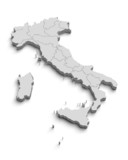Italy white map