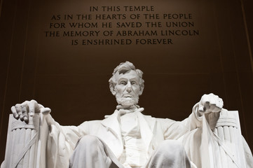 Lincoln Memorial Statue Close Up