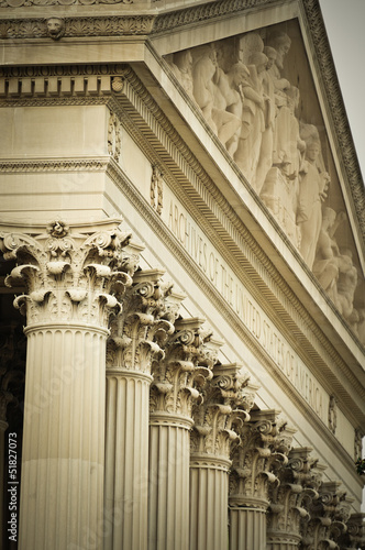 Detail Of The Facade From The National Archives Building