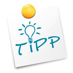 Zettel Lampe Tipp