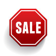 Sale sign button vector