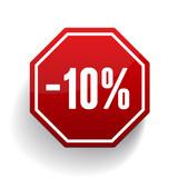 Sale percents label. Vector
