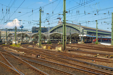 Trains in station