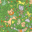 Cute childish seamless pattern design