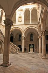 Atrium, Rector's palace, Old Town, Dubrovnik, Croatia