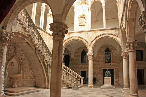 Deurstickers Vestingwerk Atrium, Rector's palace, Old Town, Dubrovnik, Croatia