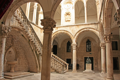Atrium, Rector's palace, Old Town, Dubrovnik, Croatia - 51829840