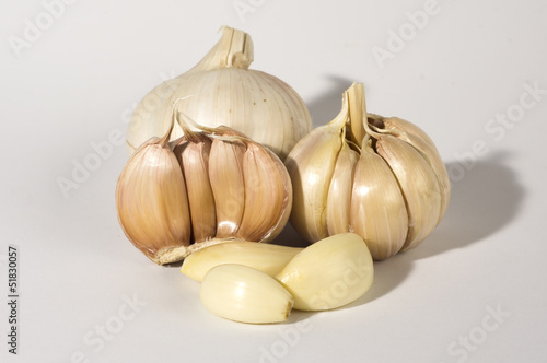 Close view of Garlic