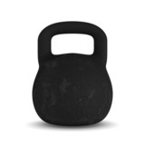 kettlebell onwhite background. Isolated 3D image