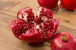 canvas print picture - Pomegranate closeup