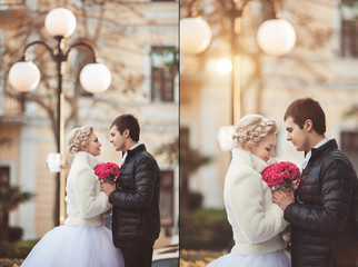 wedding Collage beautiful bride and groom
