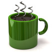 Green coffee cup icon