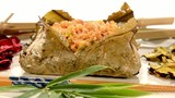 chinese rice in lotus leaf