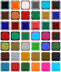Series of square icons or buttons