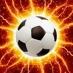 Soccer ball, lightnings