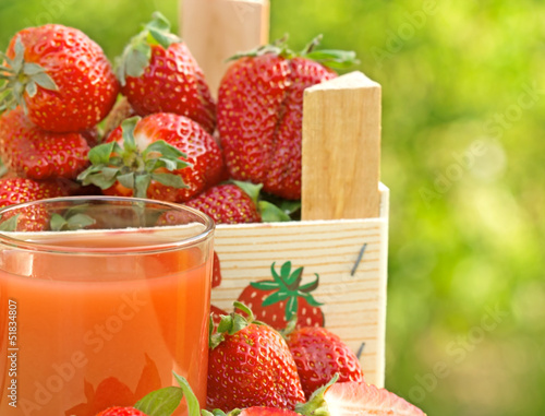 Strawberry juice and strawberry
