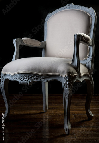 Vintage beige color armchair