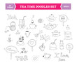 Tea doodle vector elements