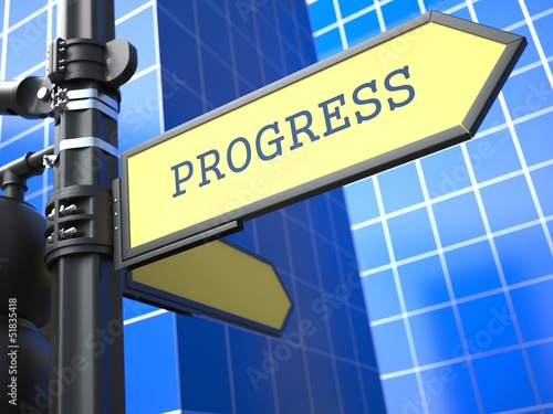 Business Concept. Progress Sign.