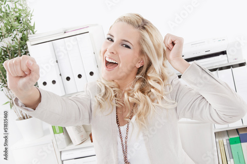 Successfully business woman - smiling face