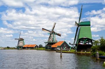 Dutch windmills in Zaanse Schans