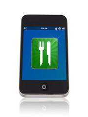 Smartphone mit Restaurant App