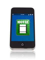 Smartphone mit Film App