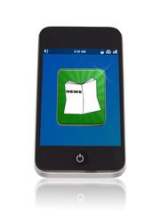 Smartphone mit News App