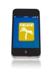 Smaetphone mit Urlaubs App