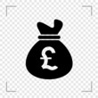 Pounds Moneybag Icon