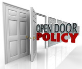 Open Door Policy Words Management Welcome Communication