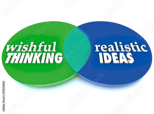 Wishful Thinking Realistic Ideas Venn Diagram