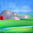 Nuclear power energy illustration