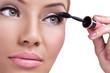 Make-up, applying mascara
