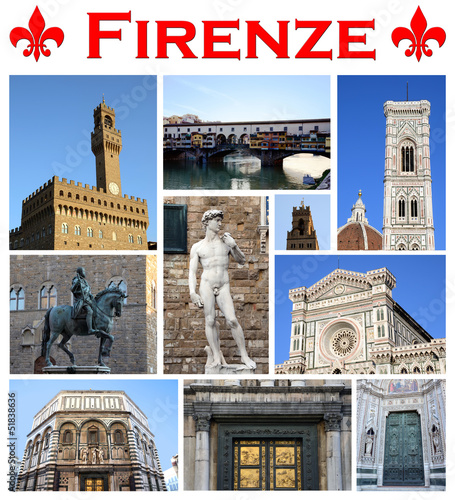 Collage/cartolina Firenze