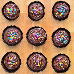 Fresh home made chocolate cupcakes