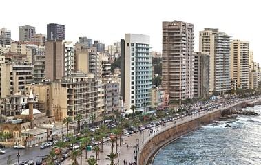 Beirut Skyline on a White Background