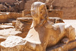 Ancient statue of sphinx in Karnak temple, Luxor