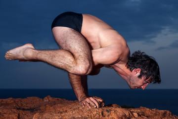 Position d'équilibre en yoga