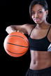 beautiful female basket ball player