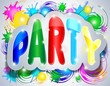 Party Colorful Sticker Text-Festa Adesivo Testo a Colori