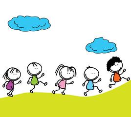 happy kids doodle